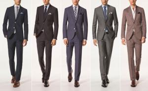 e7138890ae Trajes negros y grises con zapatos negros. – Trajes azulados y marrones con zapatos  cafés.